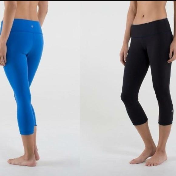 5b04090ab0eb lululemon athletica Pants - Lululemon Reversible Wunder Under Crop Blue  Black